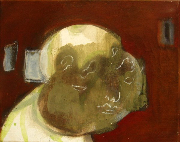 Gesicht (2008 24 x 30cm tempera/ oil on canvas)