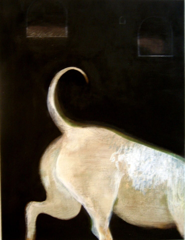 Norainu (Stray Dog) (2008 65 x 50cm tempera/ oil on canvas)