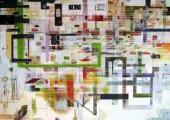 Rekonstruktion (Birds of Pray)  (2012 150 x 200 cm tempera / oil on canvas)