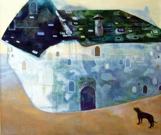 Unterwegs (2008 85 x 100cm tempera/ oil on canvas)