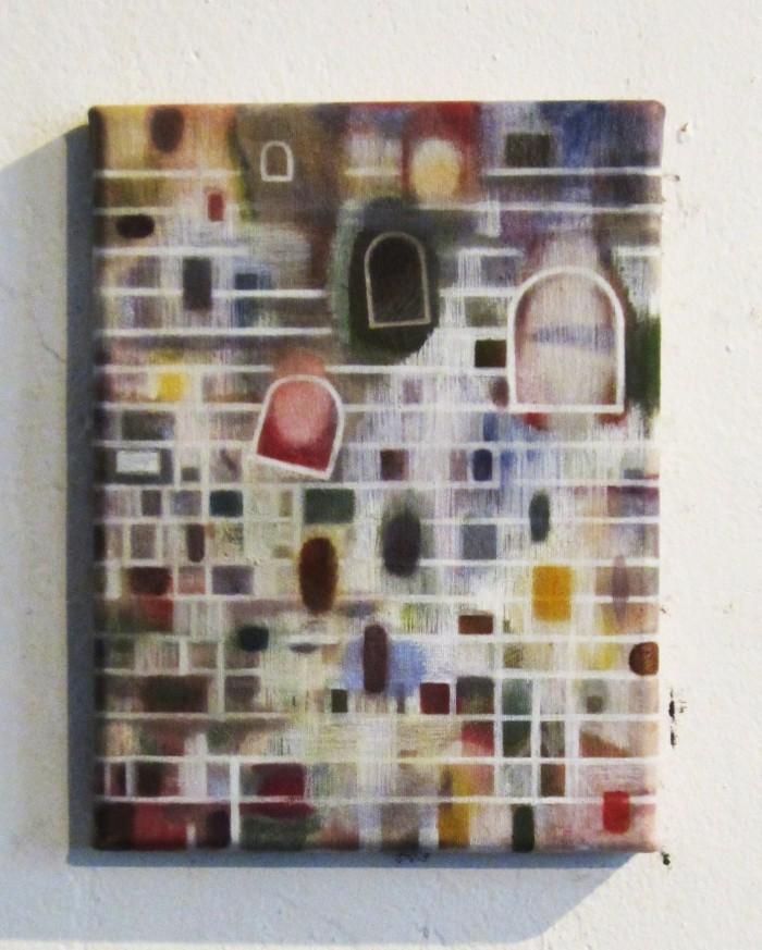 Windows of Perception (2012 24 x 18cm tempera/ oil on canvas)