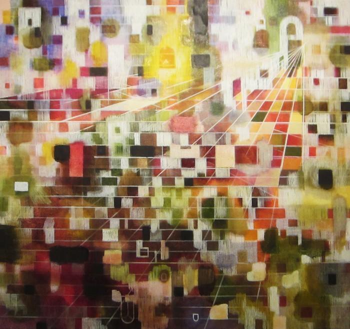 Temptation (2012 65 x 70 cm tempera/ oil on canvas)