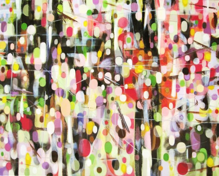 Birth (2014, Oil and egg tempera on canvas, 85 x 100 cm)